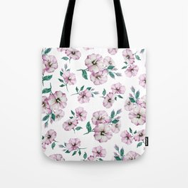 PINK FLOWERS WATERCOLOR Tote Bag