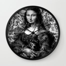 MONA LISA (BLACK & WHITE VERSION) Wall Clock