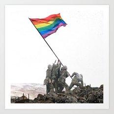 Rainbow Flag  Art Print