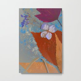 Happy Leaves and Flowers Art Metal Print