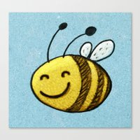 bee Canvas Prints featuring Bee by MaComiX