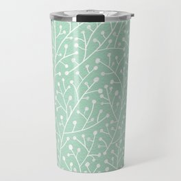 Mint Berry Branches Travel Mug