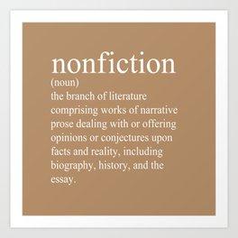 Nonfiction Definition Art Print