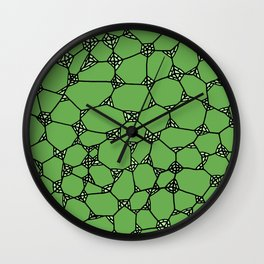 Yzor pattern 006-4 kitai green Wall Clock