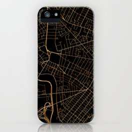 Cambridge map, Massachusetts iPhone Case