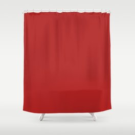 Firebrick Red Shower Curtain