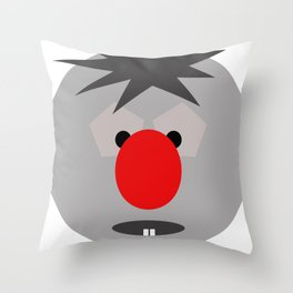The BIG RED nose  Throw Pillow