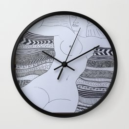 Reading Modigliani  Wall Clock