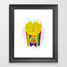 The First Place FRIES Framed Art Print