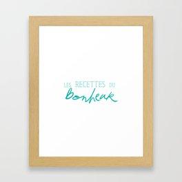 Les Recettes du bonheur  - LOVE Framed Art Print