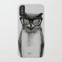 clock iPhone & iPod Cases featuring Mr. Owl by Isaiah K. Stephens