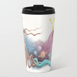 Boy and Girl Love At First Sight Across the Galaxy Travel Mug