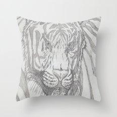 large tiger Throw Pillow