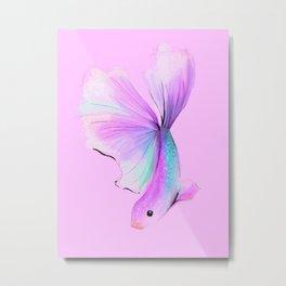 Rainbow Fish no 2 Pink Metal Print