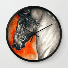 Black Friesian Horse Wall Clock