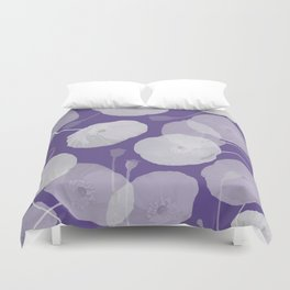 Ultra Violet Floral Abstract. Pantone Color of the Year 2018 Duvet Cover