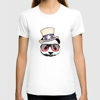 patriotic T-shirts featuring Patriotic Panda by crayzeestuff