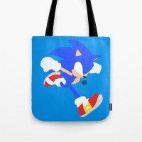 sonic Tote Bags featuring Sonic(Smash) by ejgomez