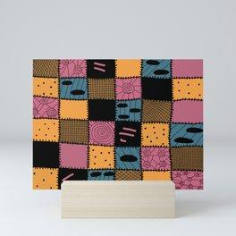 Nightmare Sally inspired pattern Mini Art Print