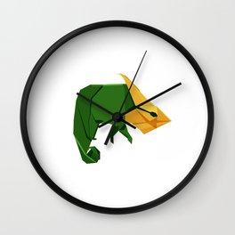 Origami Chameleon Wall Clock