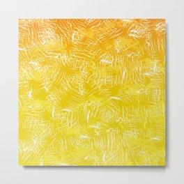 Citrus Abstract Print Metal Print