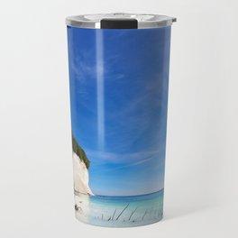 Chalk cliffs on the island Ruegen Travel Mug