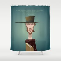 clint eastwood Shower Curtains featuring Blondie (Clint Eastwood) FR by Bady Church