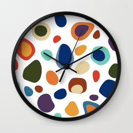 Terrazzo Abstract Pattern Wall Clock