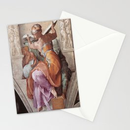 The Libyan Sybil Sistine Chapel Ceiling by Michelangelo Stationery Cards