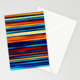 Foggy Stripes Stationery Cards