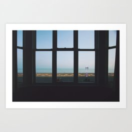 Seaside motel Art Print