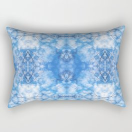 212 - Blue Sky and clouds abstract pattern Rectangular Pillow