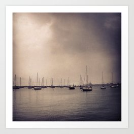 Foggy Harbor - Chicago Art Print