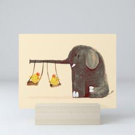 Elephant Swing Mini Art Print