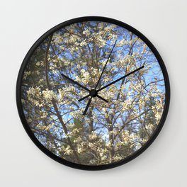 Juneberry Blossoms Wall Clock