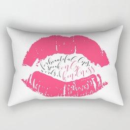 Speak words of kindness Audrey Hepburn quote Rectangular Pillow