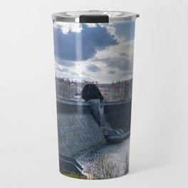 Möhne Reservoir Barrage Wall Sauerland Germany Travel Mug