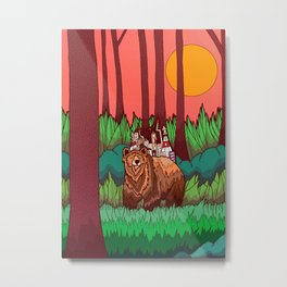 The Forest and The Bear Metal Print