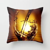 drink Throw Pillows featuring Drink by Digital Dreams