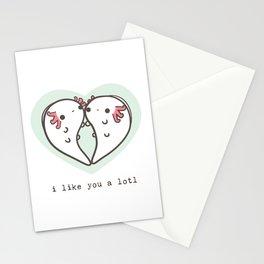 I like you a lotl axolotls Stationery Cards