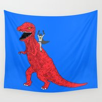 dinosaur Wall Tapestries featuring Dinosaur B Forever by Isaboa