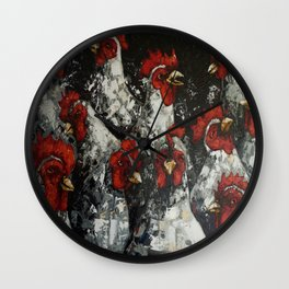 Across a crowded room Wall Clock