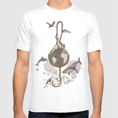 Earth melody Mens Fitted Tee White MEDIUM