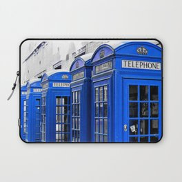 Red Booths Turned Tardis Laptop Sleeve