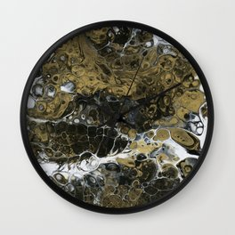 Team Splash, Black and Gold Wall Clock