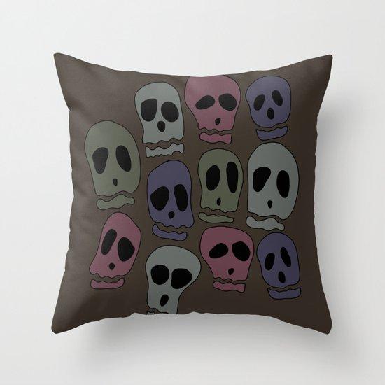 Skulls-2 Throw Pillow
