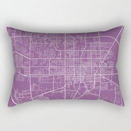 Gainesville Map, USA - Purple Rectangular Pillow