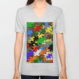 Puzzle Stones Unisex V-Neck