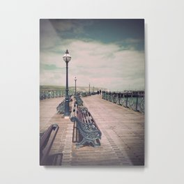 Swanage Pier Antique Metal Print
