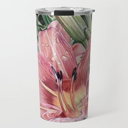 Original Flower Drawing Travel Mug